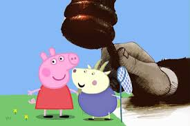 peppa pig goat u0027 woman demands 80 000 cartoon