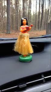 wiggling hula doll dashboard bobble nodding