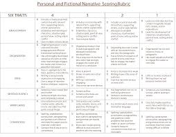 4th grade essay samples 6 traits personal and fictional narrative scoring rubric 6 traits personal and fictional narrative scoring rubric