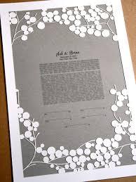 interfaith ketubah ketubah papercut tree branches modern ketubah print with
