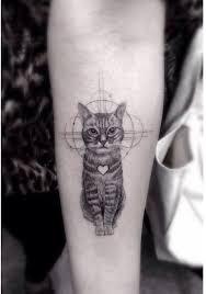 tattoo cat gato galáctico con corazón tattoo cat and forearm tattoos