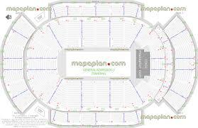 Detailed Floor Plan Gila River Arena General Admission Ga Floor Standing Concert