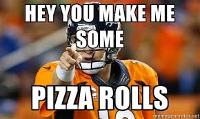 Peyton Superbowl Meme - photos peyton manning s pot and pizza comment proves meme makers