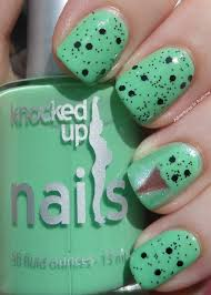 knocked up nails mint chip at midnight adventures in acetone