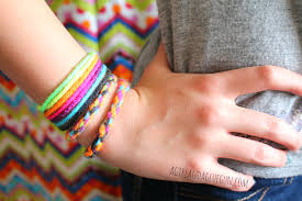 girl with bracelet images Yarn bracelets summer survival week a girl and a glue gun jpg