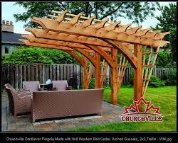 architecture cantilevered pergola kits cantilever pergola design