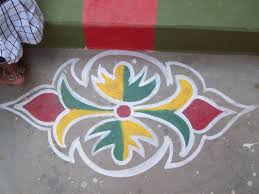 Side Designs My Place Rangoli Design 3