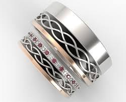 unique matching wedding bands stunning diamond sapphire alternately matching wedding band set
