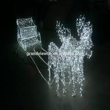 Lighted Santa Sleigh Reindeer Set by Reindeer Sleigh With Led Lights Reindeer Sleigh With Led Lights