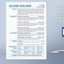 Template For Professional Resume Resume Template Cover Letter Template References Template