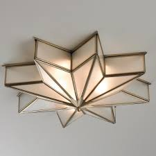 frosted glass star ceiling light star ceiling frosted glass and