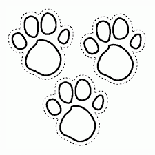 paw print coloring pages az coloring pages tiger paw coloring page