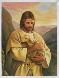 jesus christ with lamb high quality hand painted oil