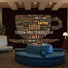 custom european style leisure coffee shop english letters 3d large
