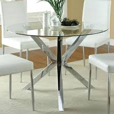 Glass Circular Dining Table Glass Dining Table With 4 Chairs Sarasota Me