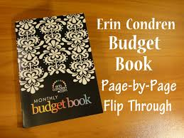 Budget Book Template Erin Condren Budget Book Page By Page Flip Through Youtube