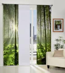 home wohnideen schiebevorhang stockholm göteborg bäume wald schiebegardine raumteiler home