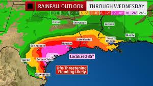 Rainfall Totals Map Thursday On Hurricane Harvey Watch U2013 Willem U0027s Planet