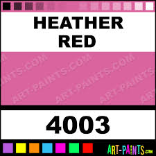 heather red glossy acrylic airbrush spray paints 4003 heather