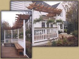 Trellis On Custom Wood Sun Trellis By Elyria Fence