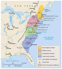colonial america map encounters and immigration to the colonies