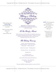 Wedding Program Dimensions Printable Wedding Program Template Lavender Ceremony Program
