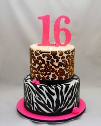 sweet 16 animal print cake cake in cup ny