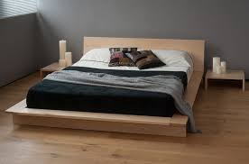 Reclaimed Wood Platform Bed Furniture Cream Wooden Wood Platform Bed With Headboard Combined