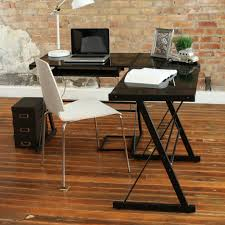 Office Depot Glass Computer Desk by Shaped Computer Desk Office Depot Realspace Mezza L Shaped Glass