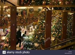 decorations inside macy s department store at