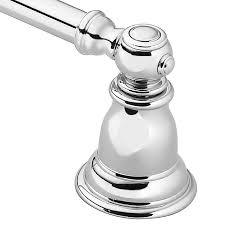 Bathroom Fixtures Towel Bars by Shop Moen Kingsley Chrome Single Towel Bar Common 24 In Actual