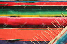 Bright Colored Rugs Traditional Mexican Fiesta Poncho Rug In Bright Colors Background