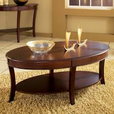 coffee table steve silver troy oval cherry wood coffee table