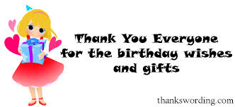 how to say thanks for the birthday wishes thank you wording