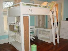 Bunk Bed With Table Underneath Bunk Beds Queen Loft Bed With Desk Full Size Walmart Regarding