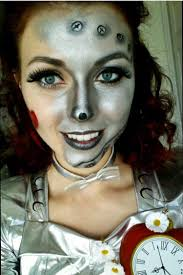 Diy Makeup Halloween by Close Up Of My Tin Woman Makeup For My Halloween Costume Thanks