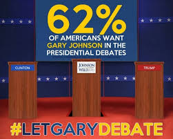 two thirds of voters want gary johnson at debates