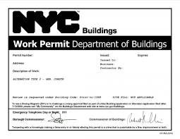 nyc building permits u2013 what does nb alteration type i ii iii