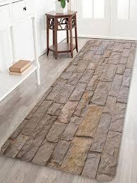 3d Area Rugs 2018 Bricks Wall Print Antiskid Bath Floor Rug Camel Brown W Inch