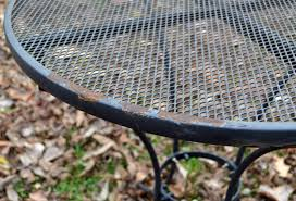 Remove Rust From Outdoor Furniture by Restore Metal Outdoor Furniture To