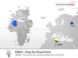 middle east map ppt powerpoint map emea region presentationload
