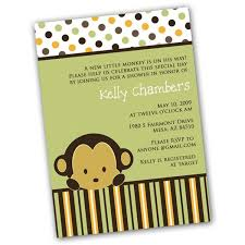 colors lovely monkey baby shower invitations free printable with