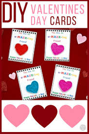 kids valentines cards diy s day cards for kids with free printable