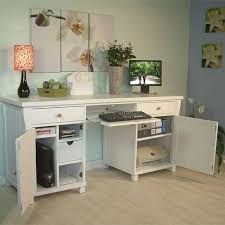white computer desk with file drawer bay window inside beautiful