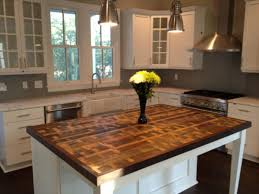 Wood Top Kitchen Island by Countertop Building A Butcher Block Island Rustic Counter Tops