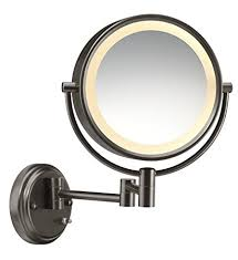 8x lighted vanity mirror amazon com conair round shaped double sided wall mount lighted
