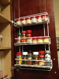 Best Spice Racks For Kitchen Cabinets Kitchen Beautiful Image Of Black Metal Hanging Wall Spice Rack