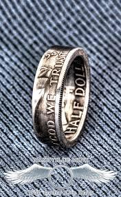 52nd wedding band 1948 1963 silver half dollar coin ring sz 7 17 60th birthday