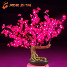 mini miniature lighted led cherry blossom bonsai tree light buy