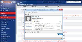 Ibm Service Desk Software Email U0026 Chat In The Vi Service Desk Vis Inc